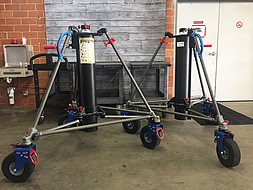 A brand new pair of American Grip Roadrunner 220 Crank-Up Stands