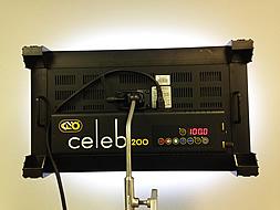 Flicker-free and programmable: Kino Flo Celeb 200 DMX LED.